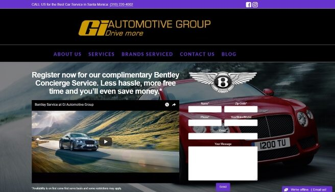 Gi Automotive Group Website Design