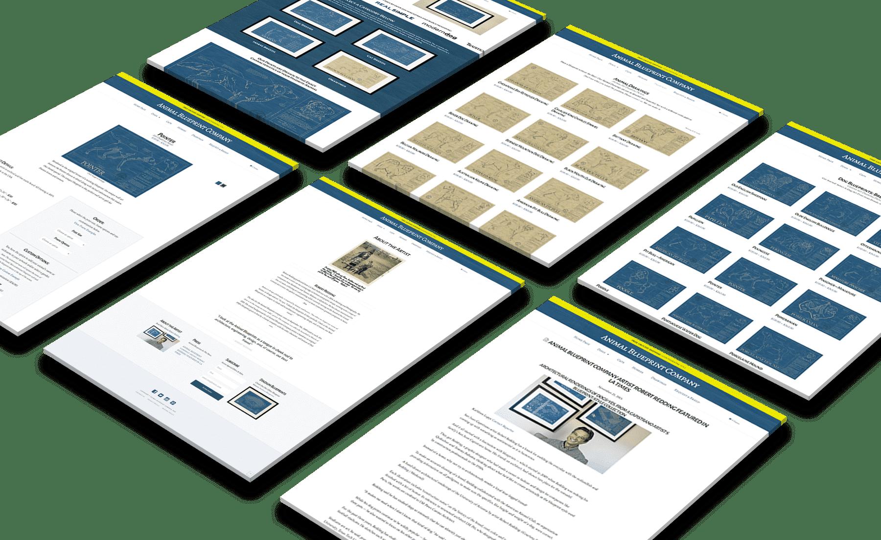 Animal Blueprint Company Website Design