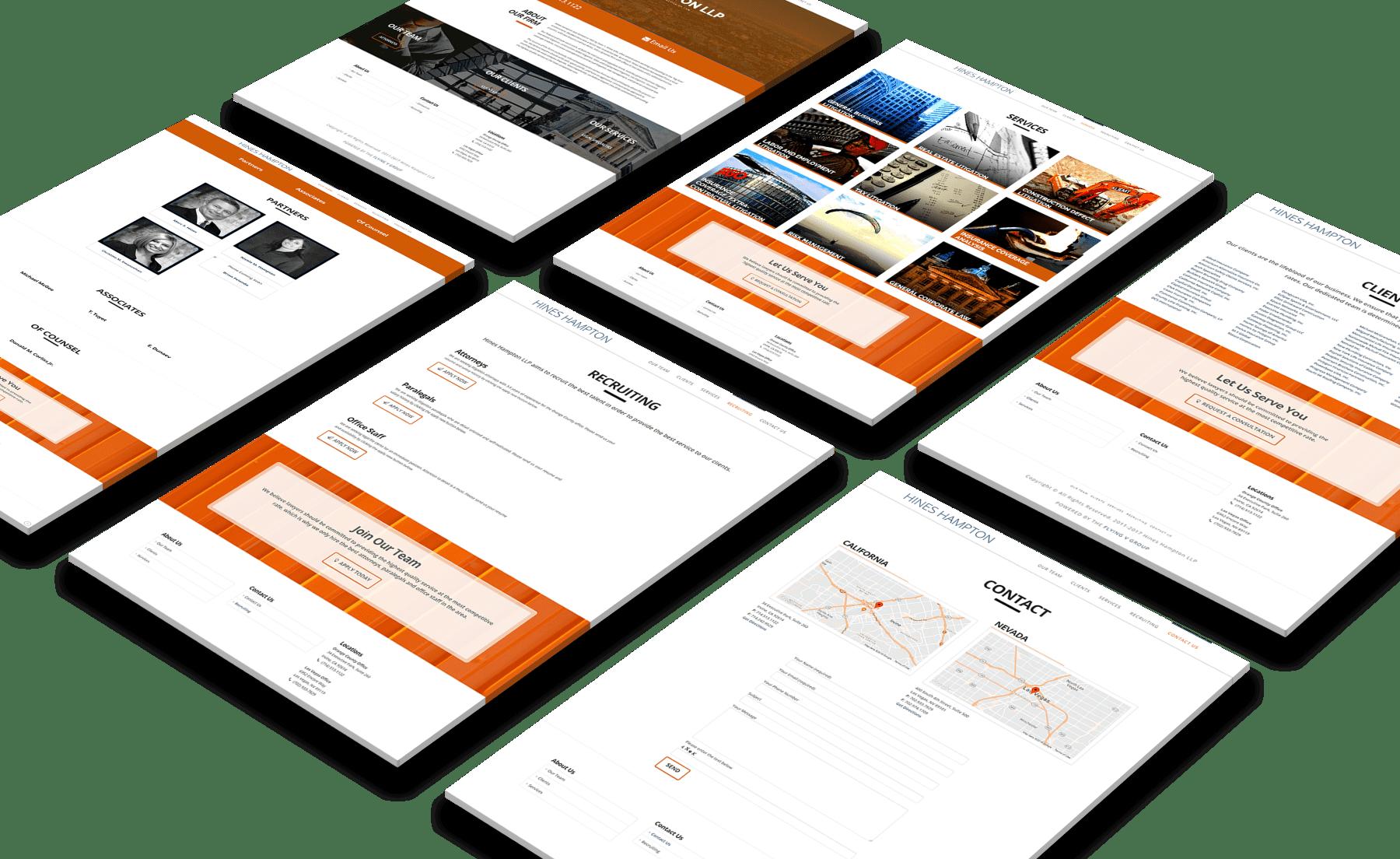 Hines Hampton LLP Website Design