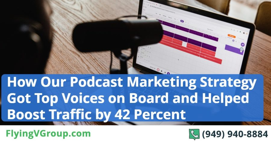 How Our Podcast Marketing Strategy Got Top Voices on Board and Helped Boost Traffic by 42 Percent