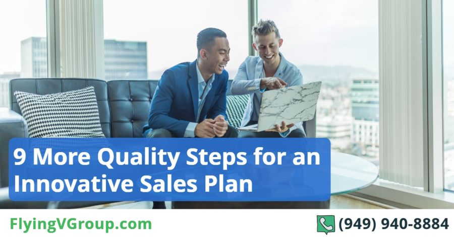 9 quality steps for an innovative sales plan