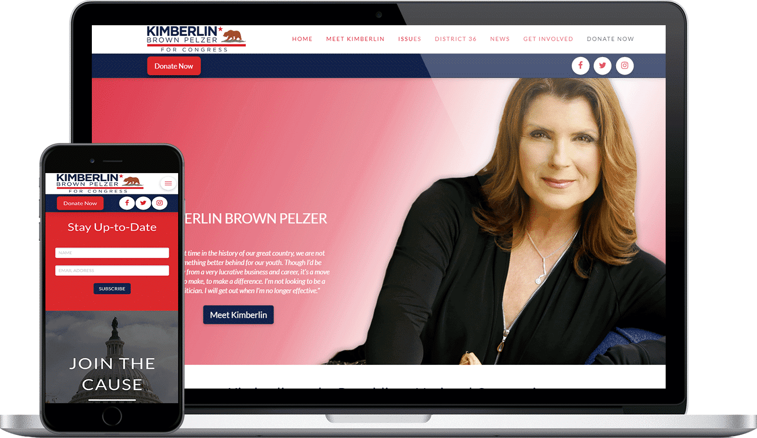 Kimberlin for Congress Website Design