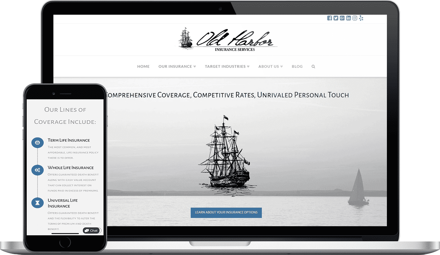 Old Harbor Insurance Services Website Design