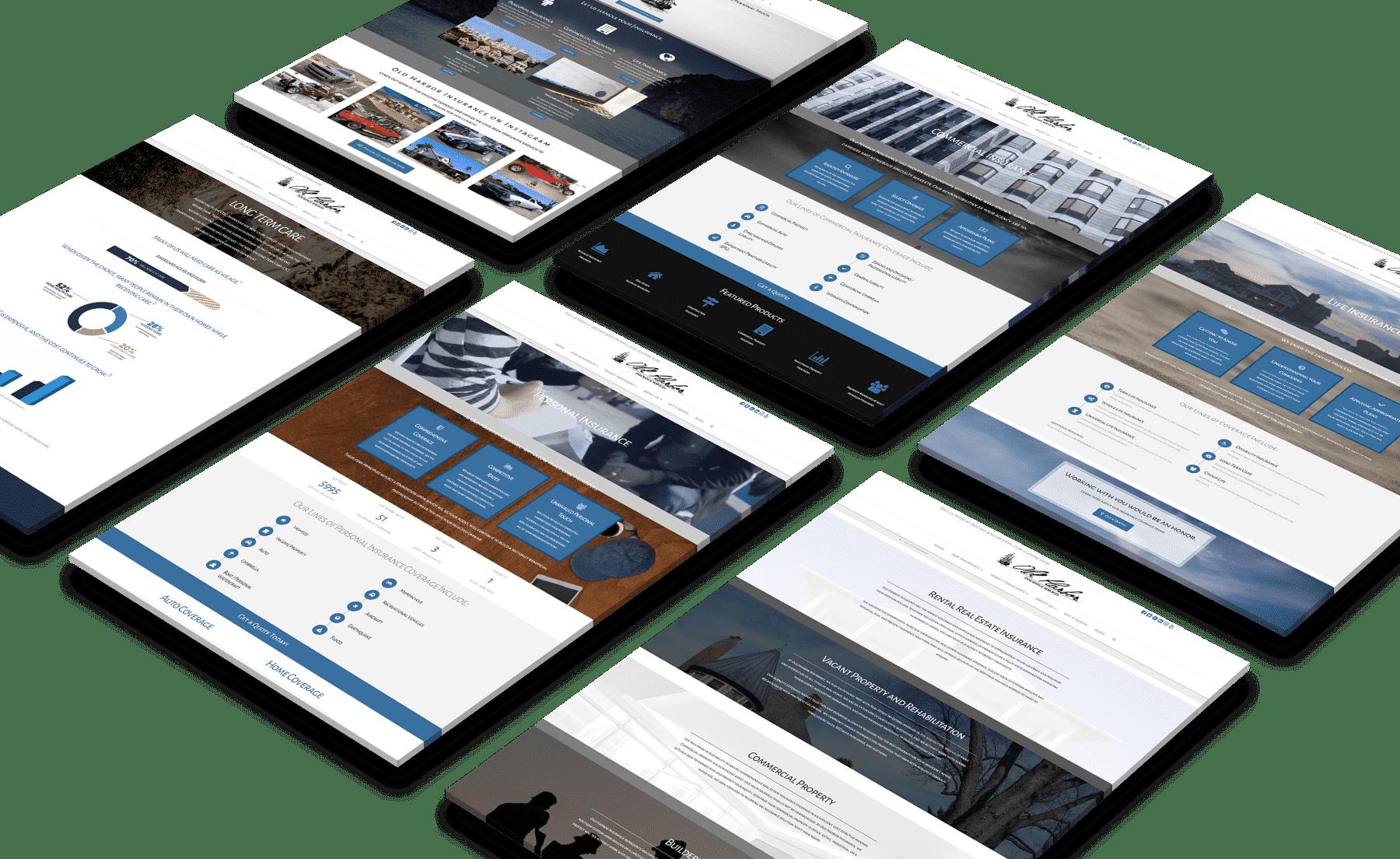 Old Harbor Insurance Services Website Design