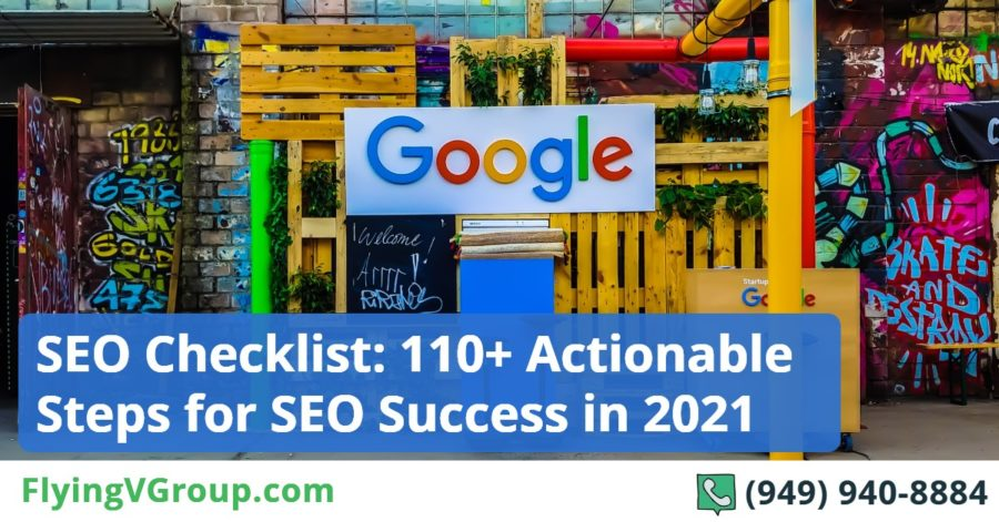 seo checklist 110 actionable steps for seo success in 2021