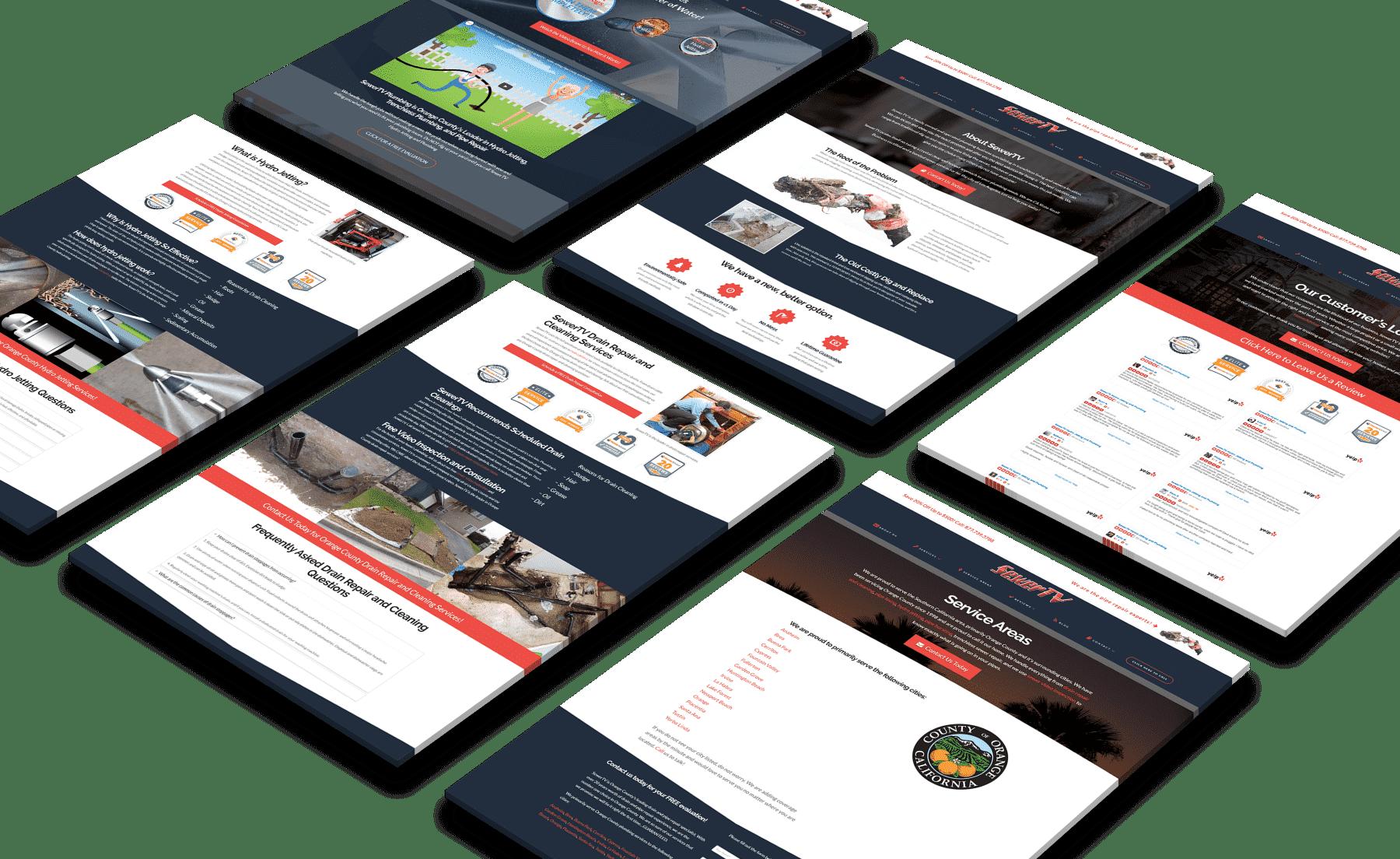 SewerTV Plumbing Website Design