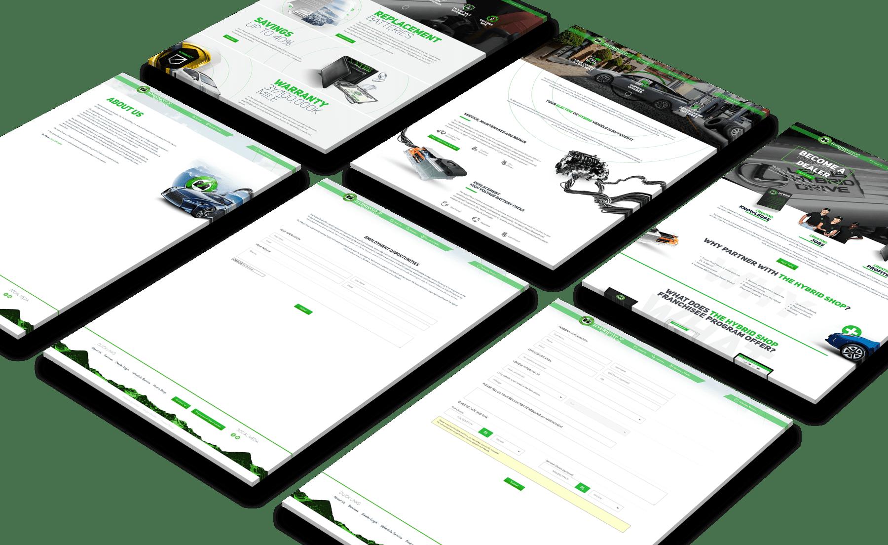 The Hybrid Shop Website Screenshots