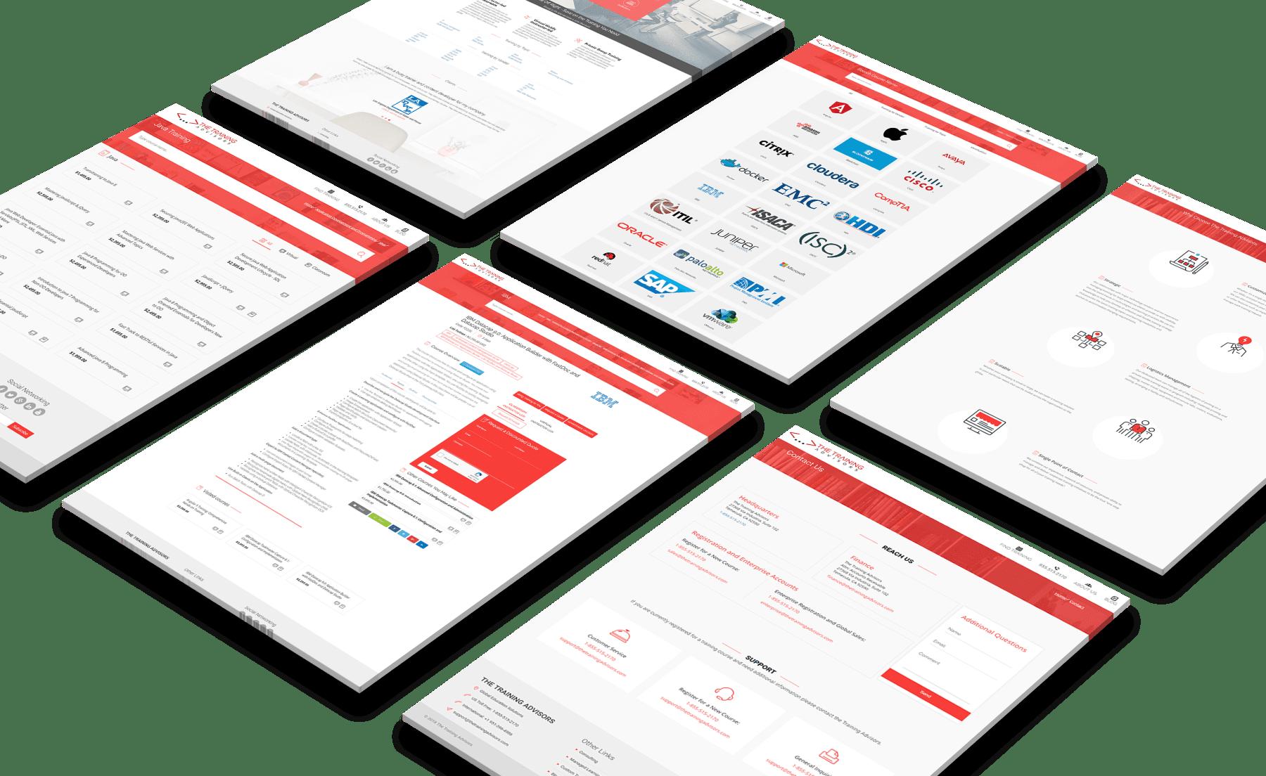 The Training Advisors Website Design