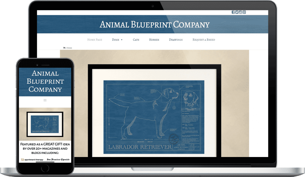 animal blueprint company website screenshot