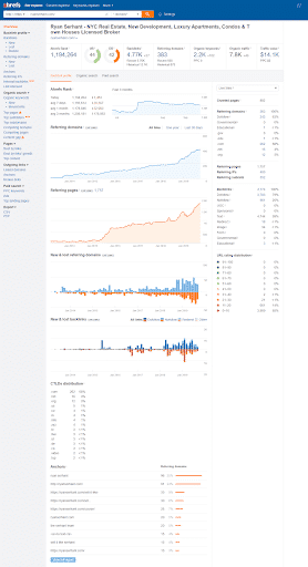 ahrefs overview section