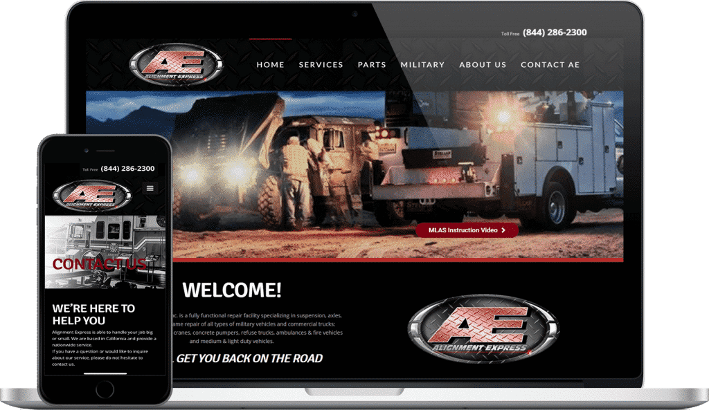 alignment express website screenshot