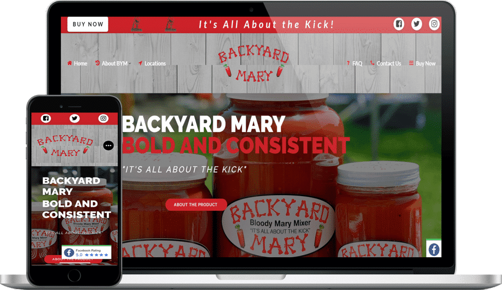 backyard mary website screenshot