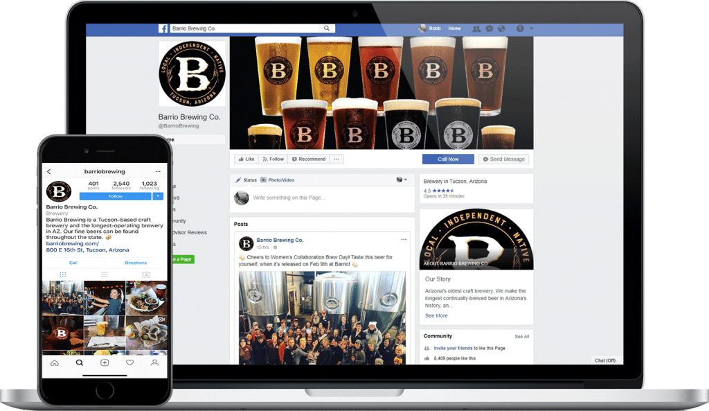 barrio brewing co. social media screenshot