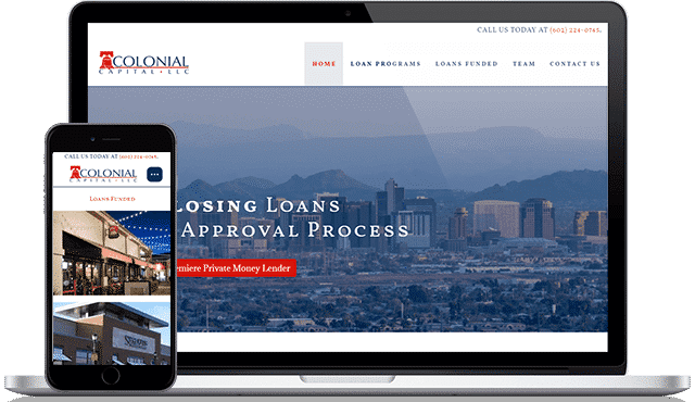 colonial capitalwebsite design