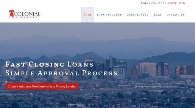 Colonial Capital Website Design