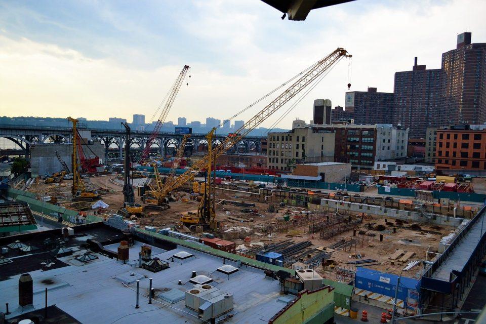 downtown building construction