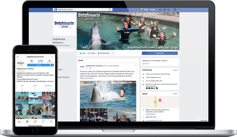 Dolphinaris Social Media