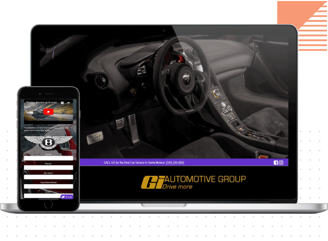 gi automotive group website design