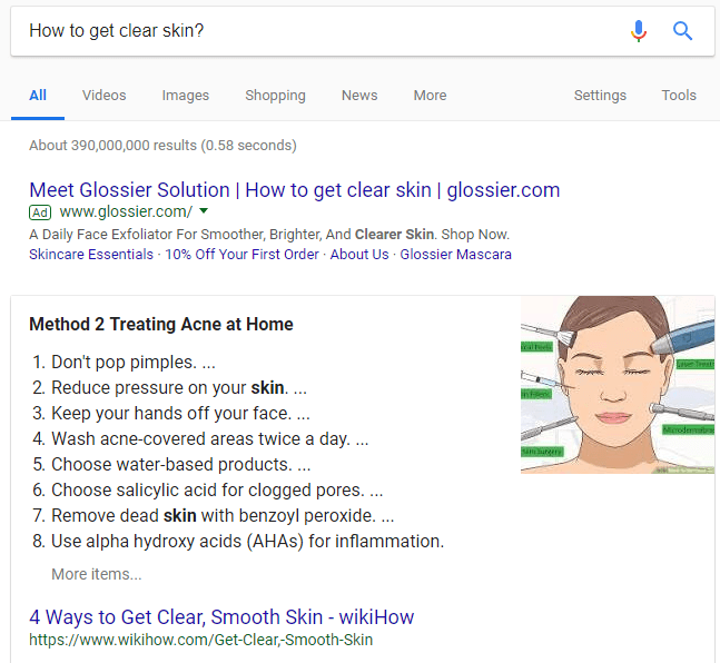 google list snippet