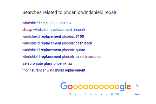 google related search results