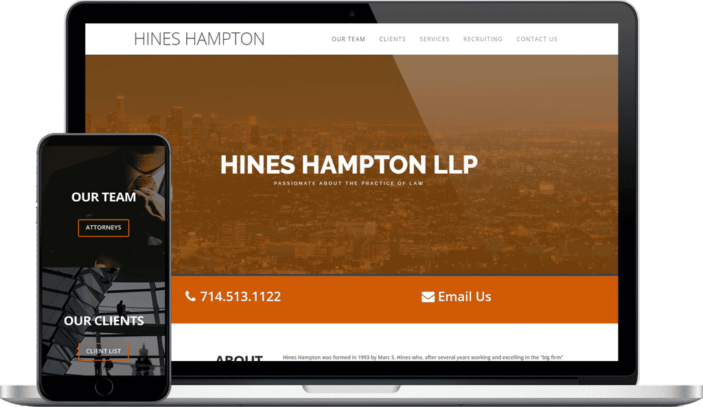 hines hampton llp website screenshot