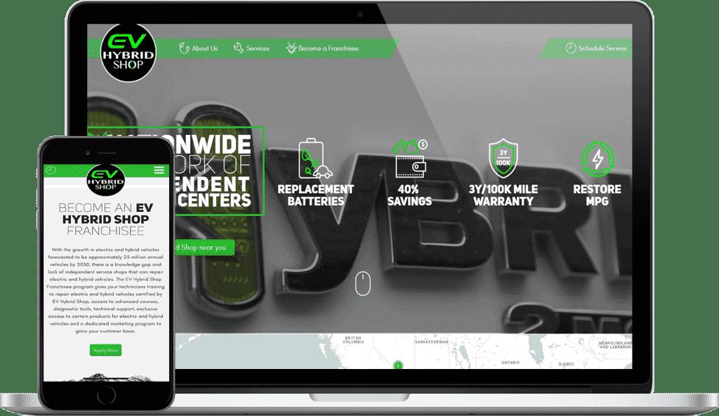 the hybrid shop website screenshot