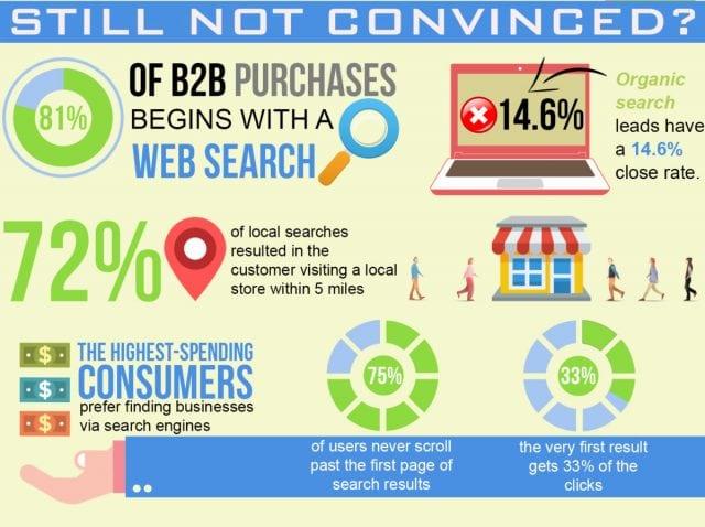 important seo statistics infographic