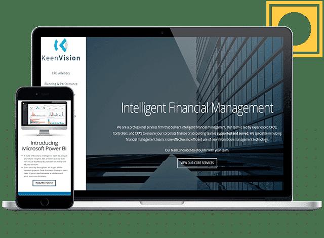 keenvision financial website design