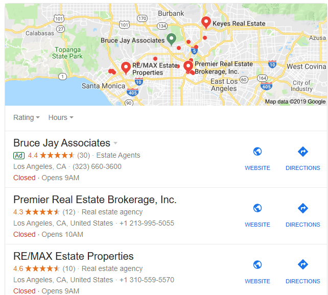local real estate map pack listing