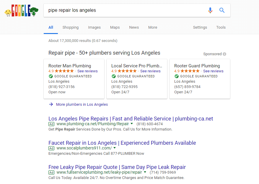 local services by google examples