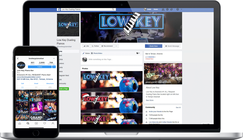 Low Key Piano Bar Social Media