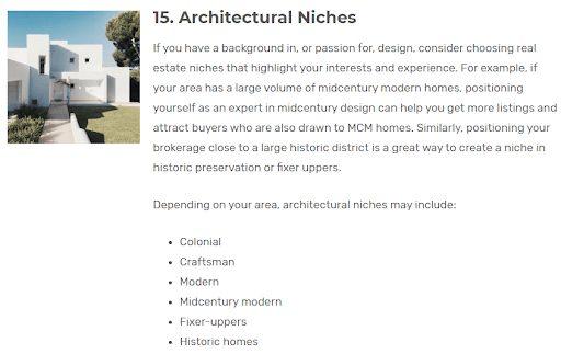 niche real estate buyers