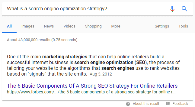 google paragraph snippet