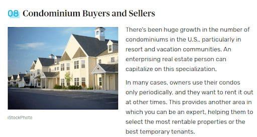 condominium real estate niche buyers