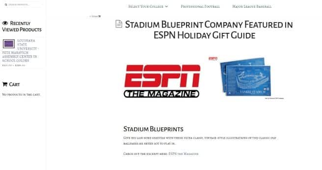 Stadium Blueprint Company Website