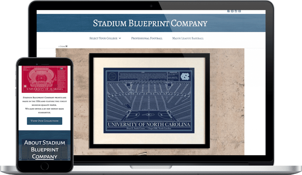 stadium blueprint company website screenshot