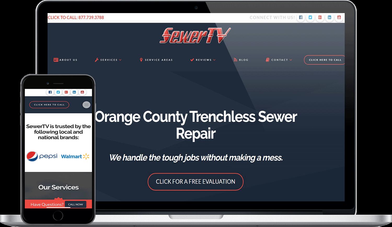 SewerTV Plumbing Digital Marketing