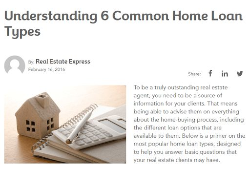 loan types real estate blogs